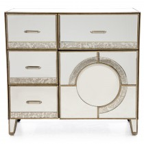 Casa Gatsby 4 Drawer Cabinet, Antique Mirror