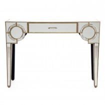 Casa Gatsby 1 Drawer Console, Antique Mirror