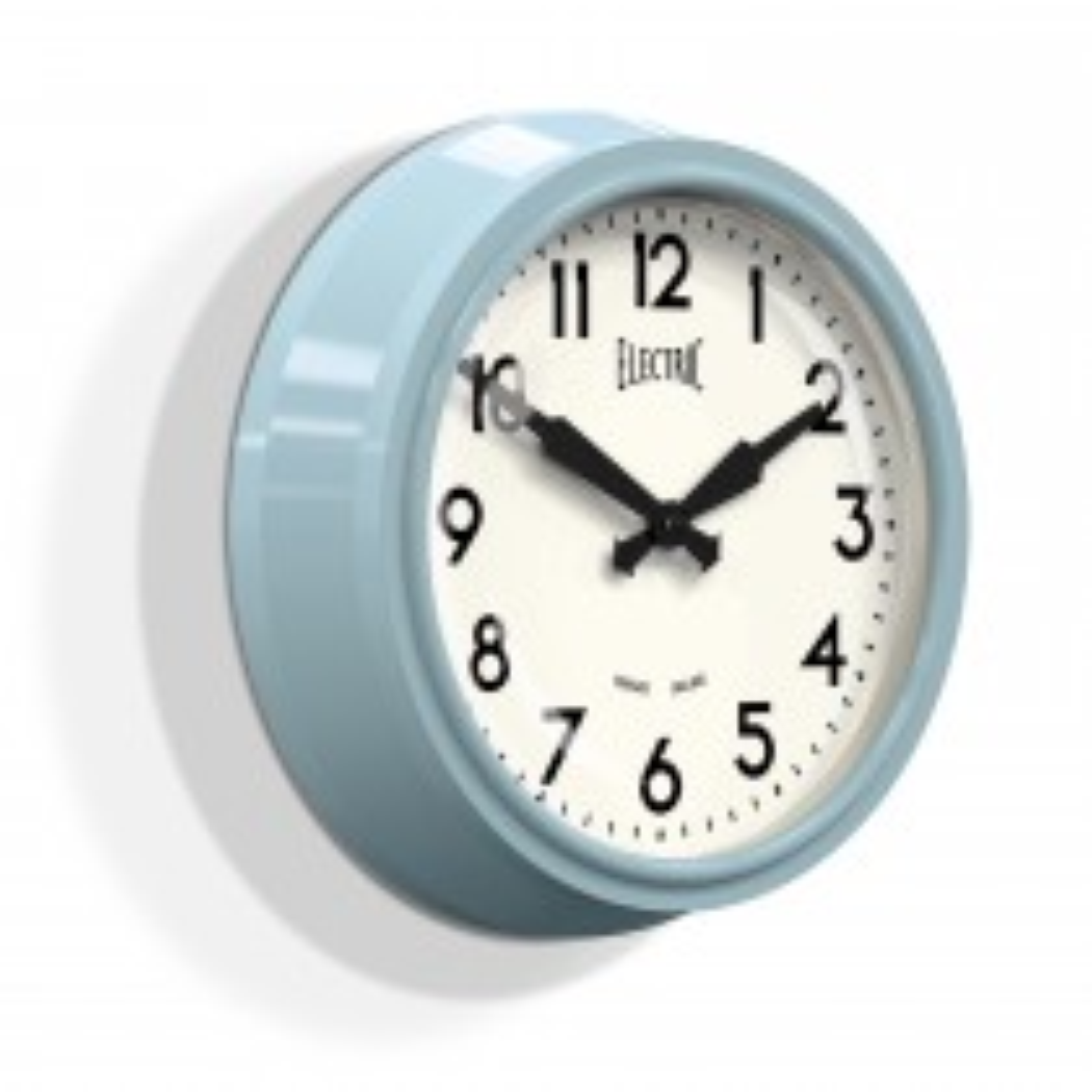 Newgate Clocks 50's Electric Wall Clock, Kettle Blue