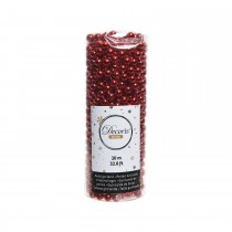 Kaemingk Plastic Bead Garland Tube, Red