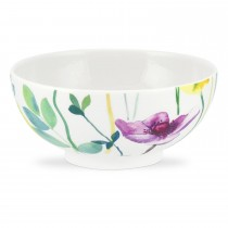 Water Garden Footed Bowl, Multi