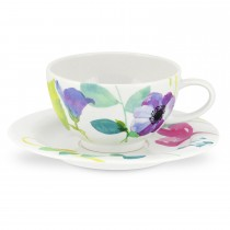 Water Garden Breakfast Cup And Saucer, Multi