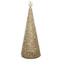 Casa Honey Crystal Cone With White Led Lights, Gold