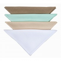 Le Chateau Plain Dyed Napkin Pack 4, Cream