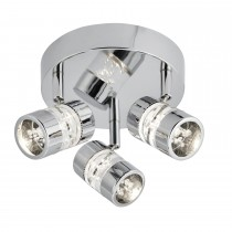 Bubbles Led 3 Lt Spot,Chrome