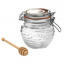 Rayware Clip Top 0.4lt Honey Glass Pot