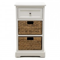 Casa 2 Drawer/2 Basket Unit, White/natural