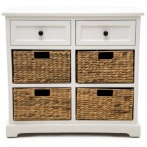 Casa 2 Drawer/4 Basket Unit, White/natural