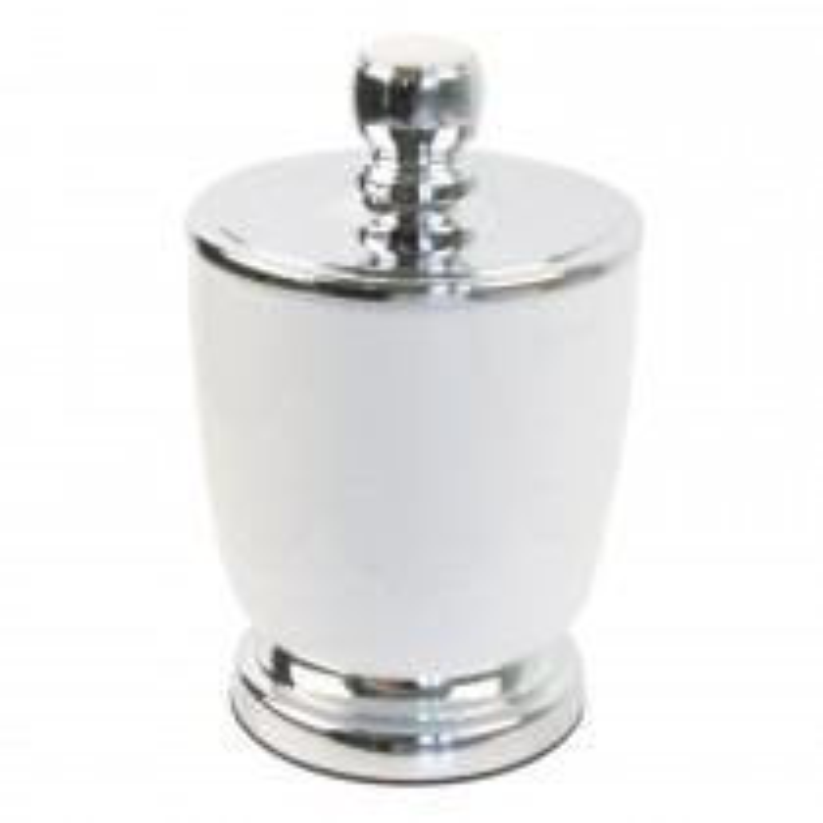 Miller Of Sweden Ceramic Canister F/s, White/chrome