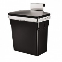 Simplehuman 10 Litre Bin, Chromed Steel, Grey