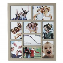 Gallery 9 Aperture Picture Frame, Khaki Wood