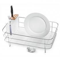 Simplehuman Wire Dish Rack Frosted Pls, White