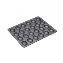 Kitchencraft 24 Hole Madeline Pan, Black