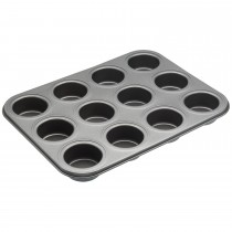Kitchencraft 12 Hole Baking Pan, Black