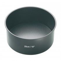 Kitchencraft 25cm Deep Cake Pan, Black