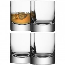 LSA Bar Tumbler x4, Clear