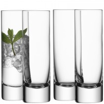 LSA Bar Long Drink Glass x4, Clear