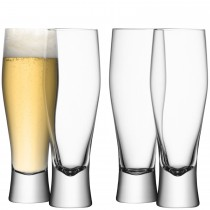 LSA Bar Lager Glass x4, Clear