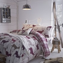 Turner Bianca Grampian Stag Single Duvet Cover, Mulberry