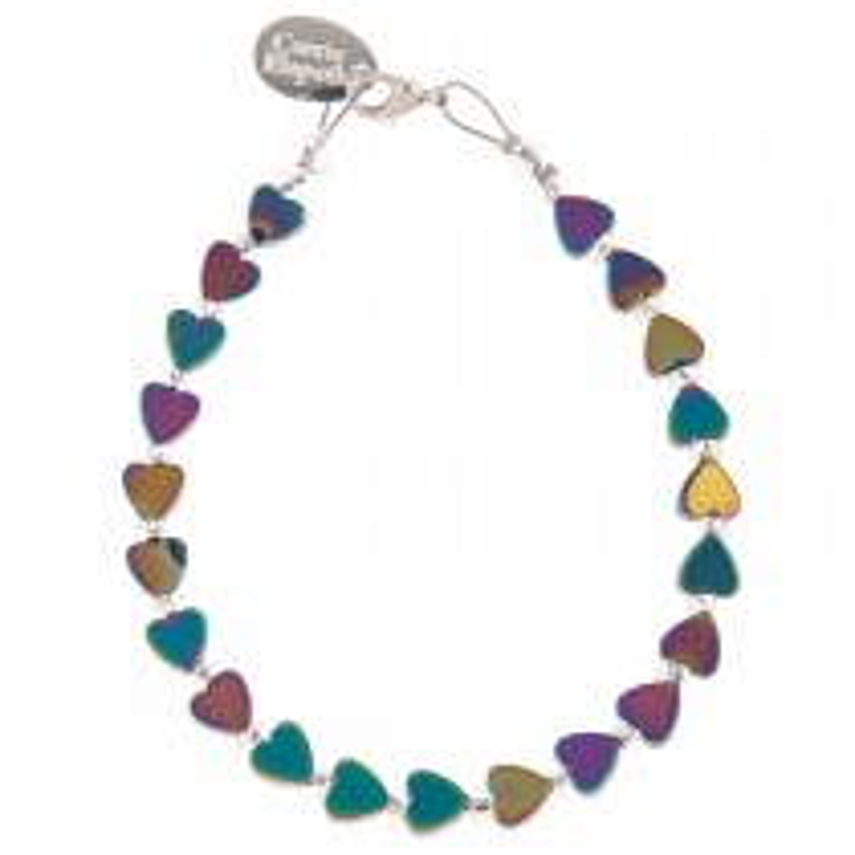 Carrie Elspeth Rainbow H Hearts Bracelet, Multi