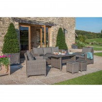 Kettler Palma Outdoor Sofa Set, With Table Rattan/Taupe