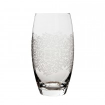Monsoon Filigree Large Tumbler Pack Of 2, Clear Etched