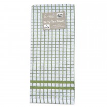 Le Chateau Small Check Tea Towel, Green