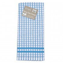 Le Chateau Small Check Tea Towel, Blue