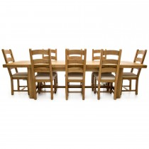 Corndell Fairford Large Extending Table & 8 Chairs Dining Set