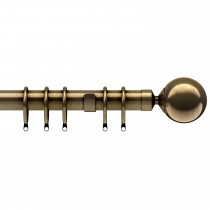 Speedy Cantata Curtain Pole, 125cm, Antique Brass