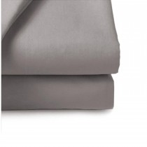Belledorm 200 Thread Count Fitted Sheet, Double, Grey