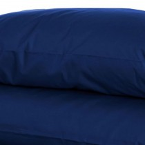 Belledorm 200 Thread Count Pillowcase, Onesize, Navy.