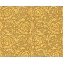 Versace Barocco Flowers Wallpaper, Gold