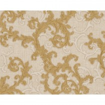 Versace Baroque & Roll Scroll Motif, Natural/gold