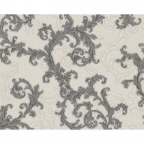 Versace Baroque & Roll Scroll Motif, Charcoal/soft Grey