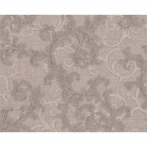 Versace Baroque & Roll Scroll Motif, Silver/taupe