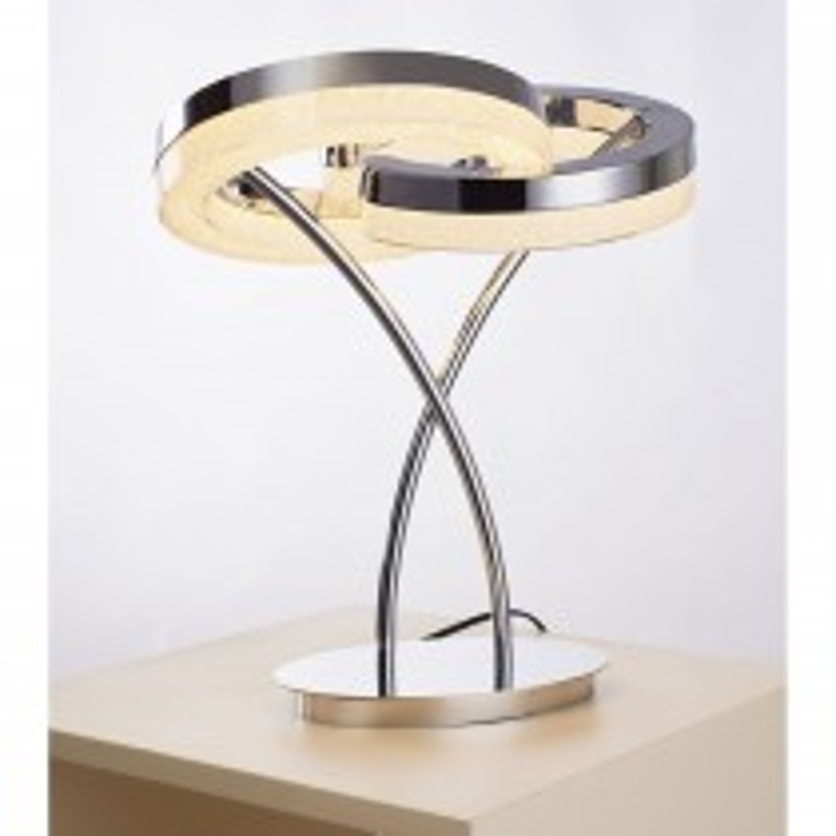 Casa Coco Diamond Table Lamp, Chrome