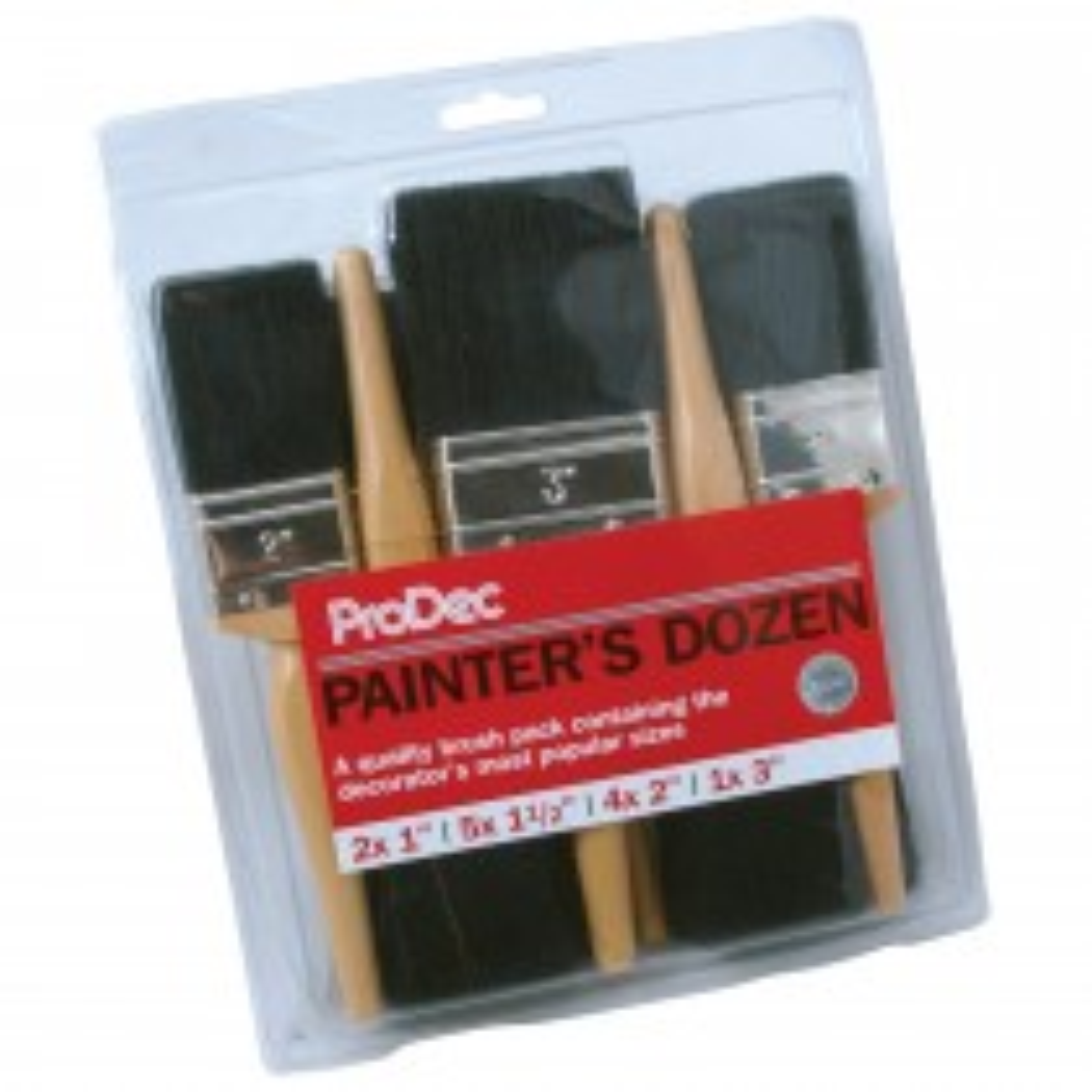 Prodec 12pc Painters Dozen Brush Set