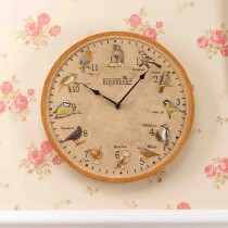 Smart Garden Birdberry Wall Clock, Beige