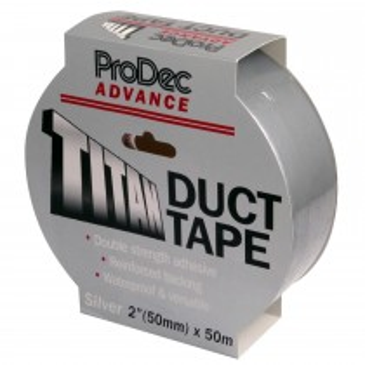 Rodo 50mmx50m Titan Duct Tape, Silver