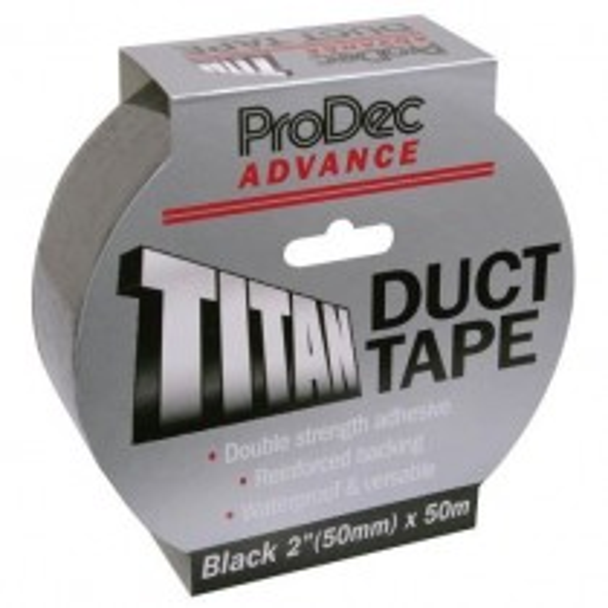 Rodo 50mmx50m Titan Duct Tape, Black