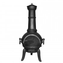 Casa Alegra II Cast Iron Chimenea, Black
