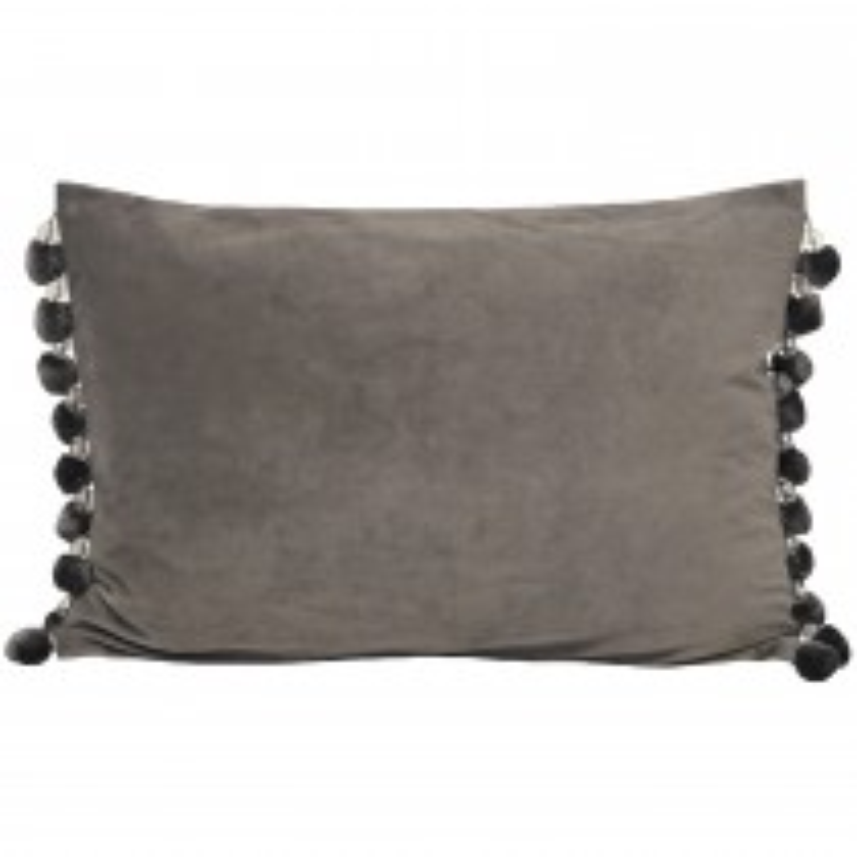 Riva Paoletti Crystal Pom Pom 35x50 Cushion, Silver
