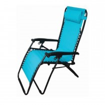 Blackspur Textilene Reclining Chair, Light Blue