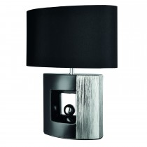 Casa Ambra Square Table Lamp, Black