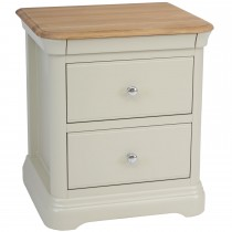 Casa Cherbourg Large 2 Drawer Bedside Cabinet