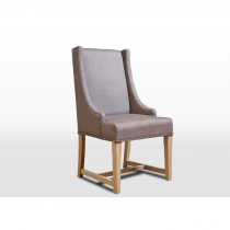 Old Charm Upholstered Dining Chair D Chair, Fumed/milford Slate