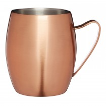 Bar Craft Double Walled Copper Moscow Mule Mug