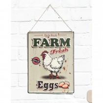 La Hacienda Farm Fresh Eggs Sign