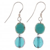 Carrie Elspeth Ocean Bohemian Earrings, Green/ Blue